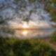 Cospudener See bei Leipzig im Sonnenuntergang