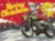 rockiger Weihnachtsmann auf Motorrad